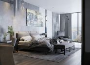 Piękna sypialnia w odcieniach szarości – rozwiązanie dla miłośników minimalizmu