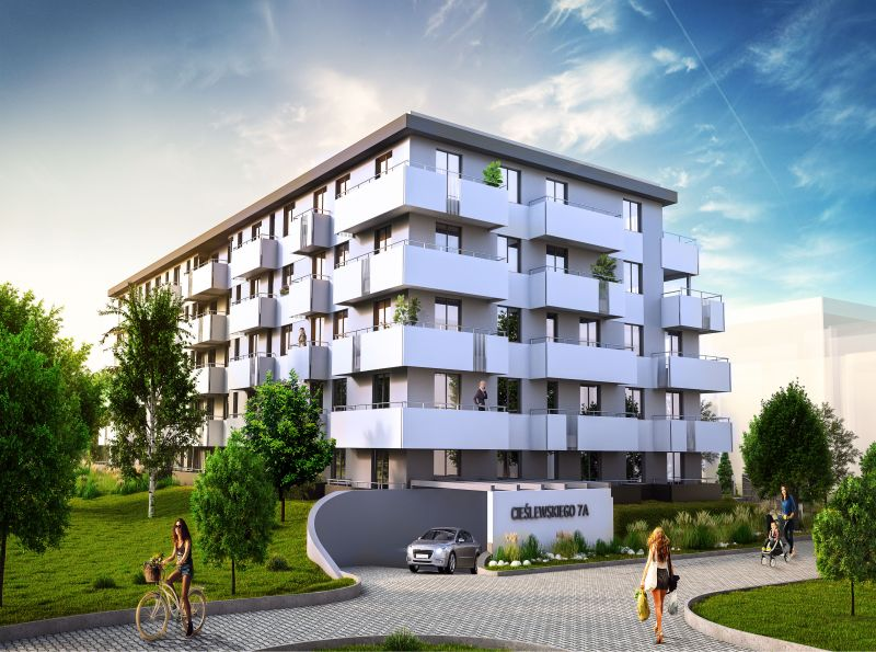 Nowe mieszkanie Kraków 55.43m2, mieszkanie na sprzedaż