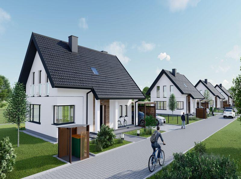 Nowy dom Wołowice 130.22m2, dom na sprzedaż