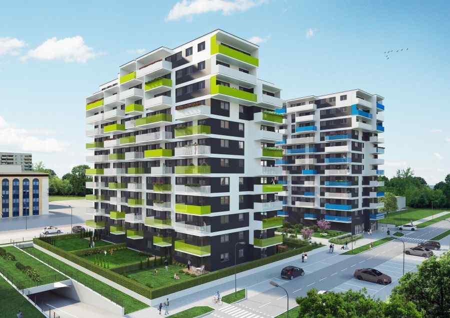 mieszkania na sprzedaż , Osiedle Dobra Forma etap II, Kraków, Podgórze Duchackie, ul. A. Bochenka - KRN.pl