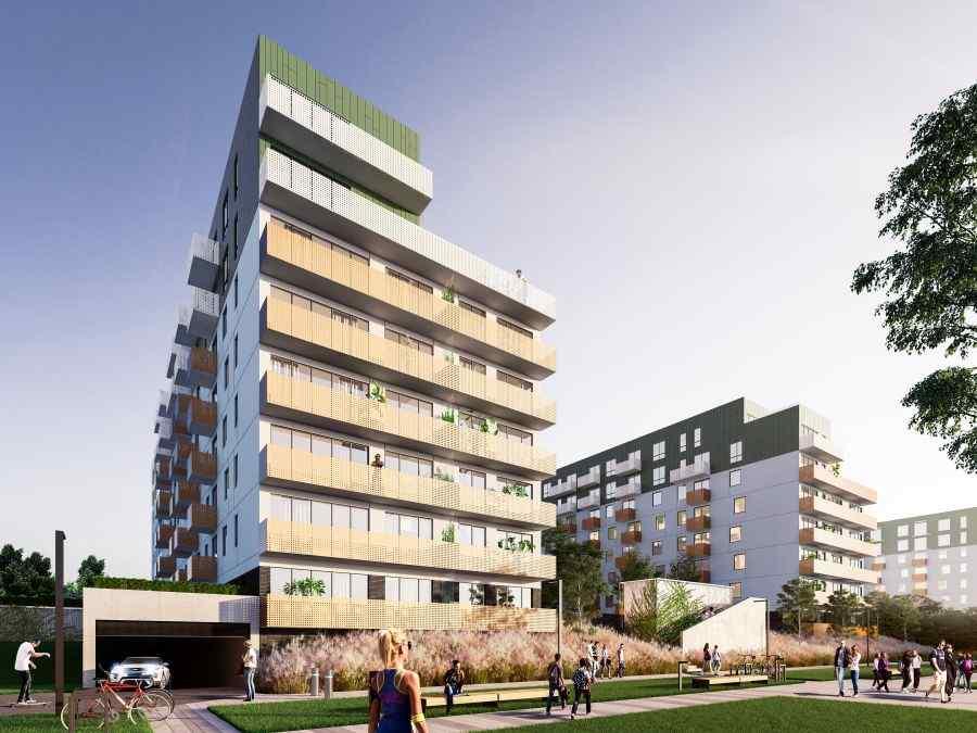 mieszkania na sprzedaż , Mieszkaj w mieście Etap 3.3, Kraków, Bronowice, ul. Wizjonerów - KRN.pl