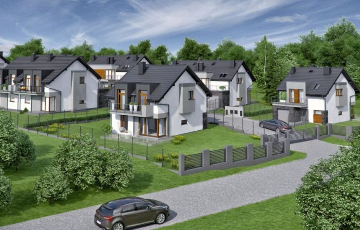 Grabówki, domy , Panorama Grabówki II etap - KRN.pl