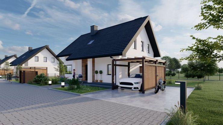 domy , Domy na polanie, Wołowice - KRN.pl