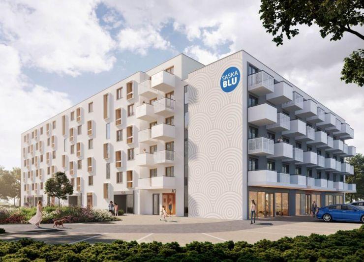 mieszkania na sprzedaż , SASKA BLU - lokale inwestycyjne, Kraków, Podgórze, ul. Saska - KRN.pl