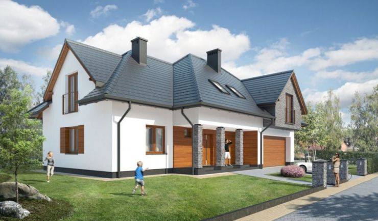 domy , Park Brzozowy, Przebieczany - KRN.pl