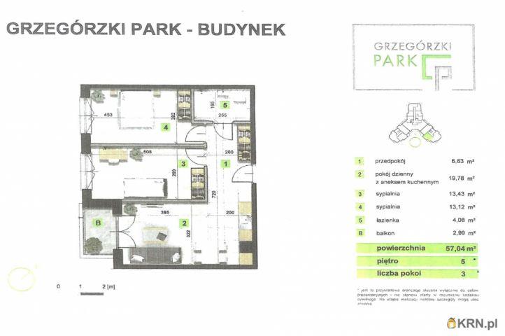 Mieszkanie Kraków 57.00m2