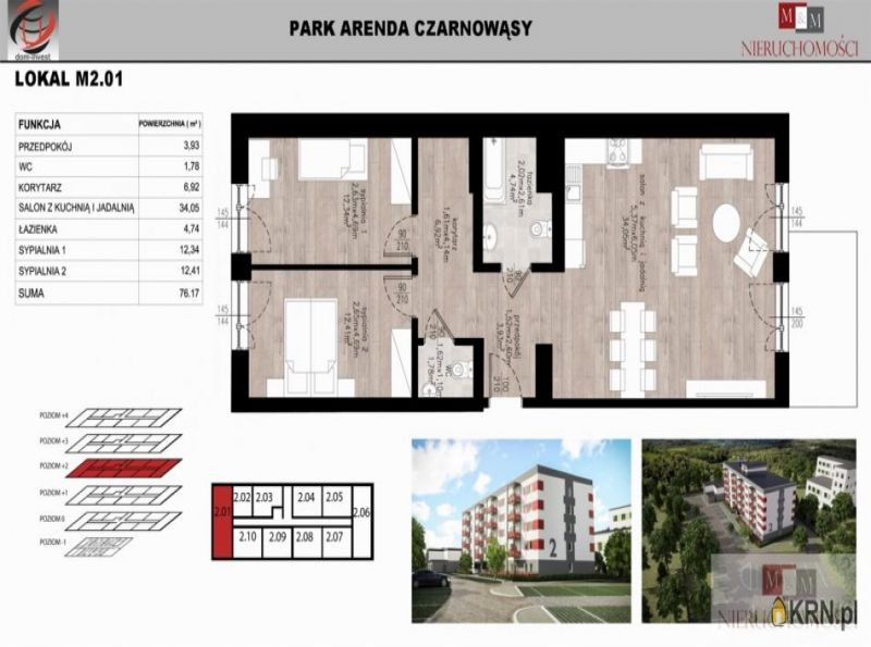 Mieszkanie Czarnowąsy 76.17m2, mieszkanie na sprzedaż