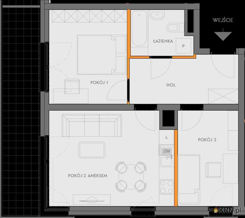 Mieszkanie, 51.48m2, Kraków, mieszkanie na sprzedaż