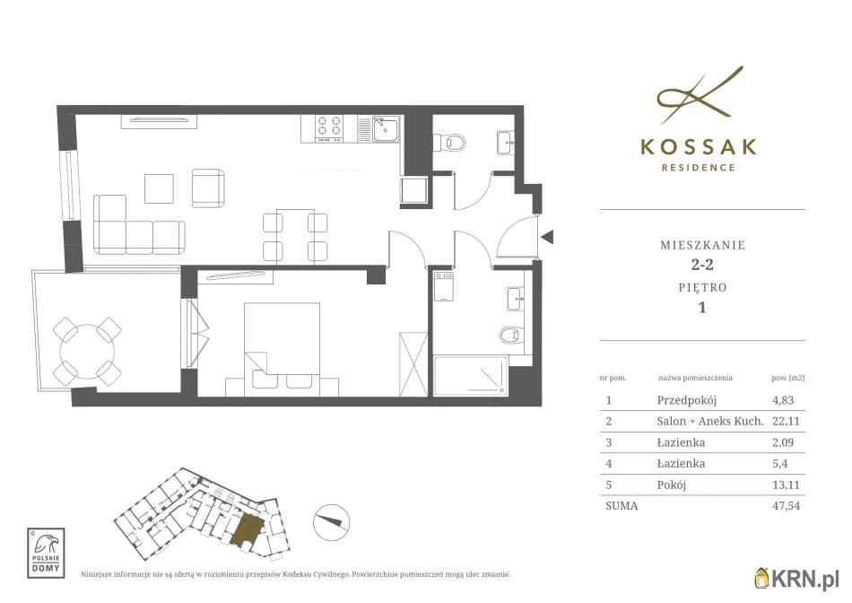 Mieszkanie, 47.53m2, Kraków, mieszkanie na sprzedaż