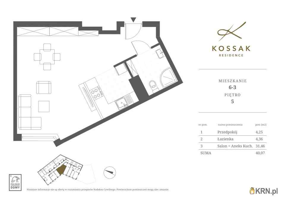 Mieszkanie, 40.07m2, Kraków, mieszkanie na sprzedaż