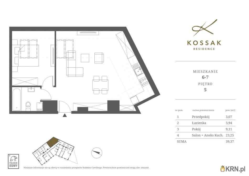 Mieszkanie, 39.37m2, Kraków, mieszkanie na sprzedaż