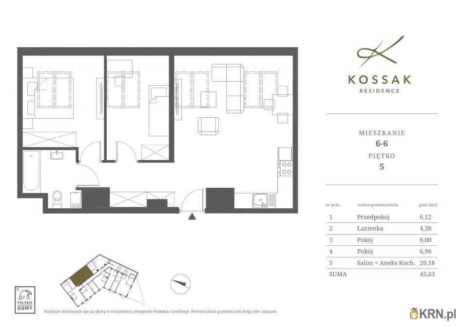 Mieszkanie, 45.63m2, Kraków, mieszkanie na sprzedaż