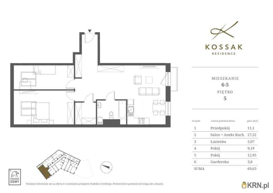Mieszkanie, 69.64m2, Kraków, mieszkanie na sprzedaż
