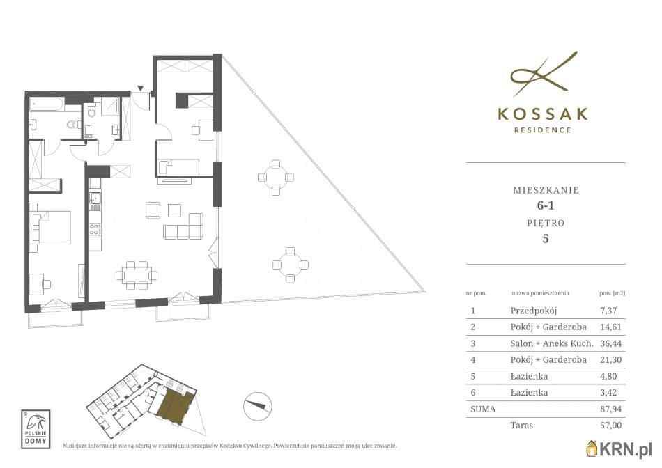 Mieszkanie, 87.94m2, Kraków, mieszkanie na sprzedaż