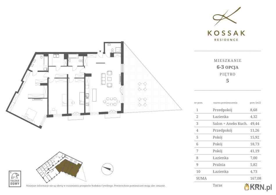 Mieszkanie, 167.08m2, Kraków, mieszkanie na sprzedaż