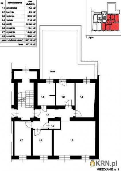 Mieszkanie Kraków 107.19m2, mieszkanie na sprzedaż