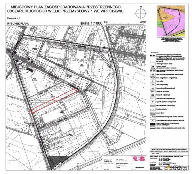 Działka Wrocław 2 500.00m2, działka na sprzedaż