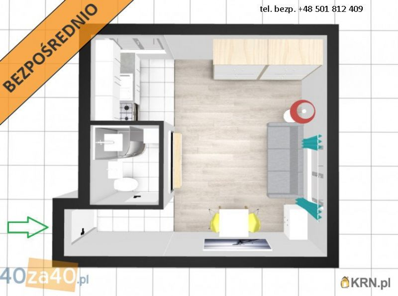 Mieszkanie Ostrołęka 25.00m2, mieszkanie na sprzedaż