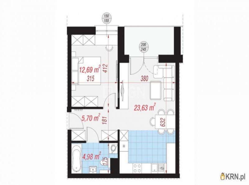 Mieszkanie Polkowice 47.00m2, mieszkanie na sprzedaż