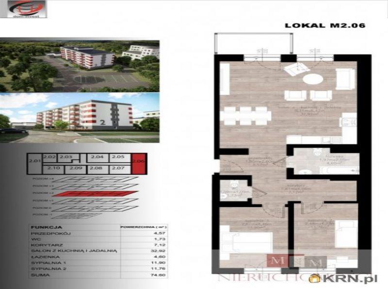 Mieszkanie Czarnowąsy 74.60m2, mieszkanie na sprzedaż